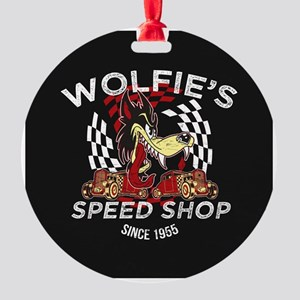 Wolfies Speed Shop Black Ornament