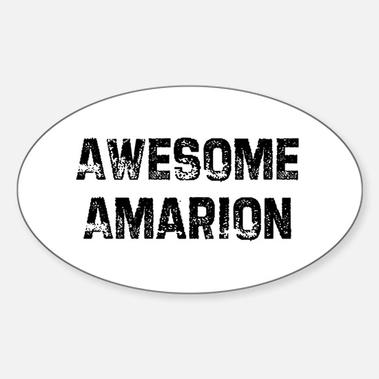 Awesome Amarion Oval Decal