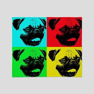 Pop Pug Throw Blanket