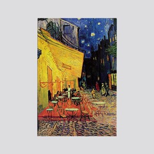 Cafe Terrace at Night by Vincent Rectangle Magnet