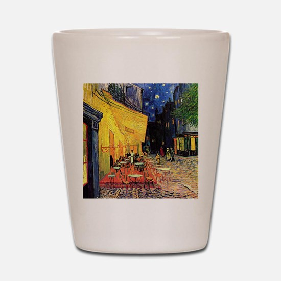 Cafe Terrace at Night by Vincent van Go Shot Glass