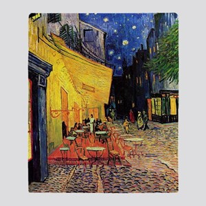 Cafe Terrace at Night by Vincent van Throw Blanket