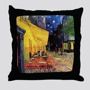 Cafe Terrace at Night by Vincent van Throw Pillow