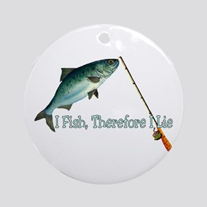 Fisherman Shirt Ornament (Round)