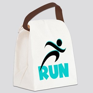 RUN Aqua Canvas Lunch Bag