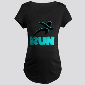 RUN Aqua Maternity Dark T-Shirt