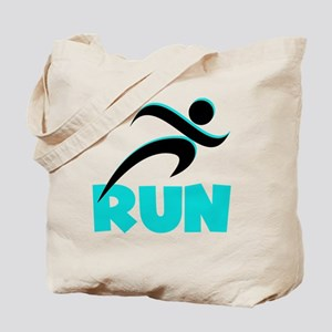 RUN Aqua Tote Bag