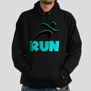 RUN Aqua Hoodie (dark)