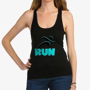 RUN Aqua Racerback Tank Top