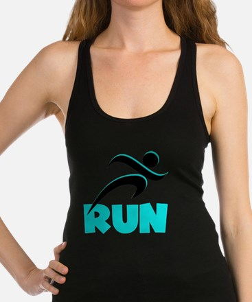 RUN Aqua Racerback Tank Top