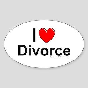 Divorce Sticker (Oval)