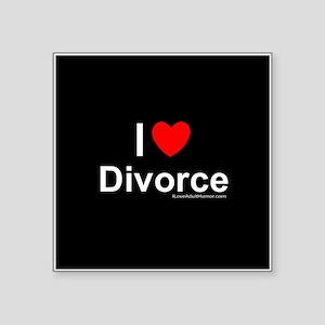 "Divorce Square Sticker 3"" x 3"""