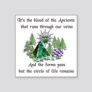 "Blood Of The Ancients Square Sticker 3"" x 3"""
