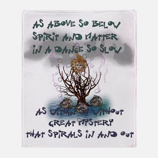 As Above So Below Throw Blanket