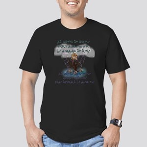 As Above So Below Men's Fitted T-Shirt (dark)
