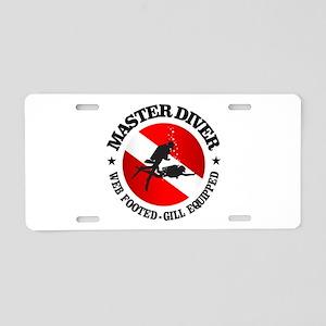 Master Diver (Round) Aluminum License Plate