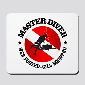 Master Diver (Round) Mousepad