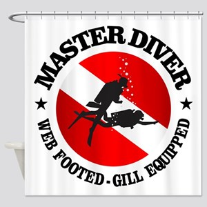 Master Diver (Round) Shower Curtain