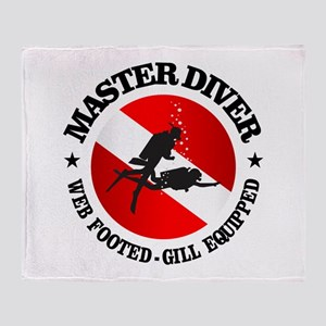 Master Diver (Round) Throw Blanket