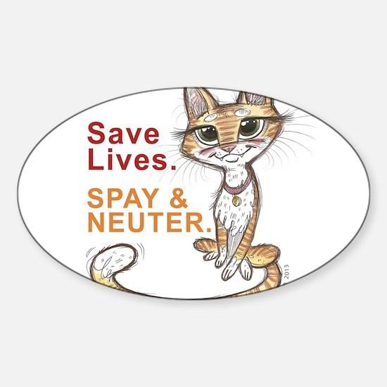 Cute Stray Sticker (Oval)