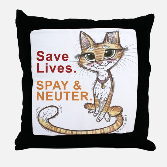 Cute Neuter Throw Pillow