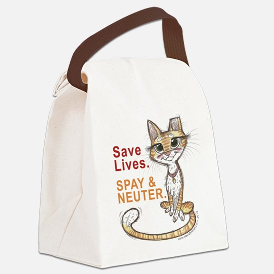 Cute Stray cats Canvas Lunch Bag