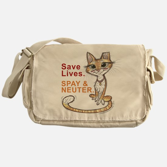 Cute Outdoor houses and shelter for stray and feral cat Messenger Bag