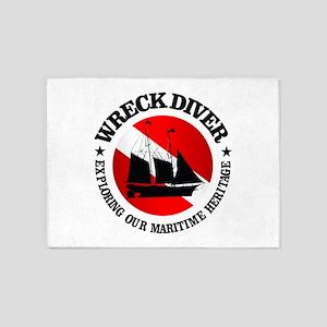 Wreck Diver (Ship) 5'x7'Area Rug