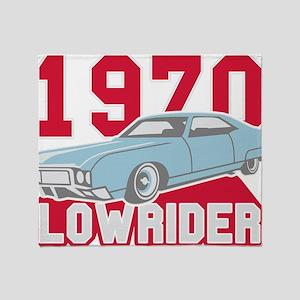 old school Lowrider Throw Blanket