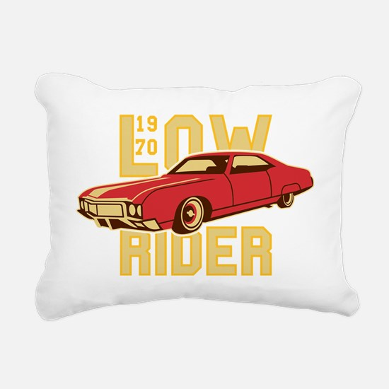 old school Lowrider Rectangular Canvas Pillow