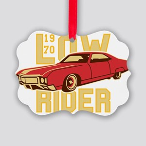 old school Lowrider Picture Ornament