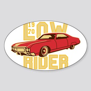 old school Lowrider Sticker (Oval)
