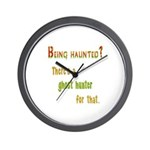 Being Haunted? Ghost Hunter App Wall Clock