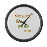 Being Haunted? Ghost Hunter App Large Wall Clock