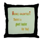Being Haunted? Ghost Hunter App Throw Pillow