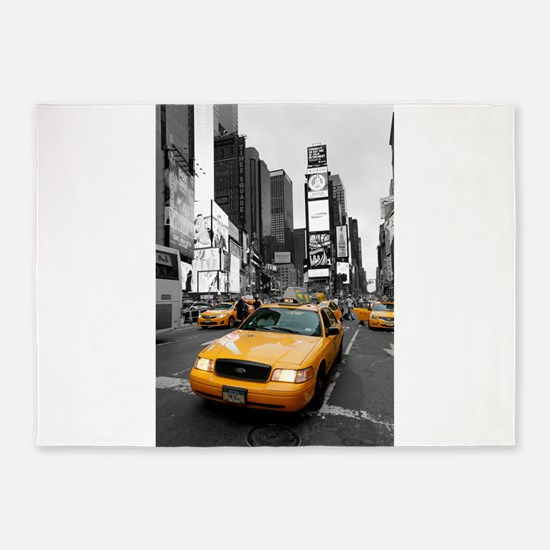 New York Times Square-Pro Photo 5'x7'Area Rug