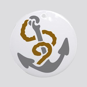 Anchors Away Ornament (Round)