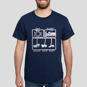 Eat Sleep Drive Chip Putt Dark T-Shirt