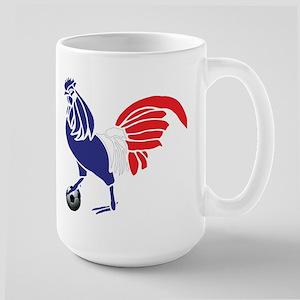 France Le Coq Flag Large Mug