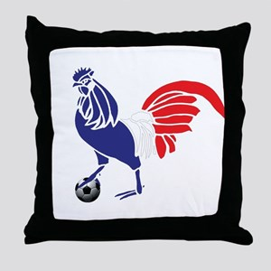 France Le Coq Flag Throw Pillow