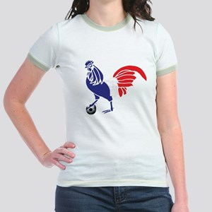 France Le Coq Flag Jr. Ringer T-Shirt