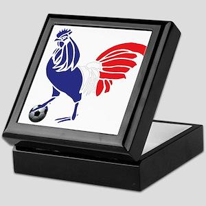 France Le Coq Flag Keepsake Box