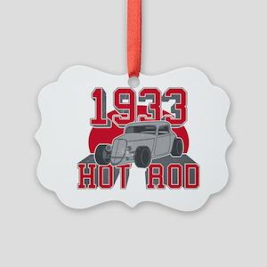 Hot Rod  Picture Ornament