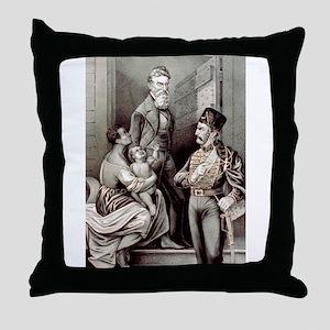 John Brown--the martyr - 1870 Throw Pillow