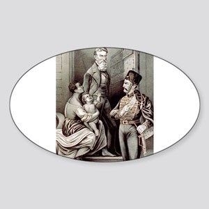 John Brown--the martyr - 1870 Sticker (Oval)