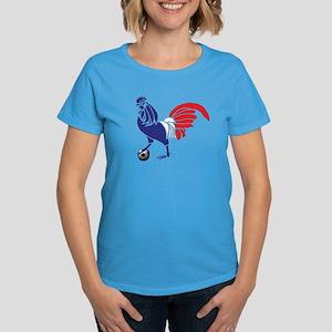 France Le Coq Flag Women's Dark T-Shirt