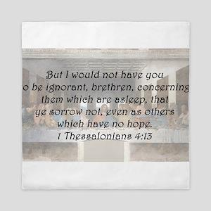 1 Thessalonians 4:13 Queen Duvet