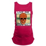 Live Die Basketball Maternity Tank Top