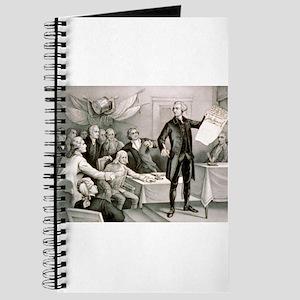 John Hancock's defiance - July 4th 1776 - 1876 Jou