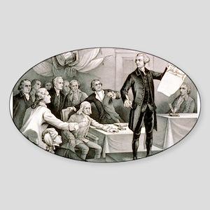 John Hancock's defiance - July 4th 1776 - 1876 Sti